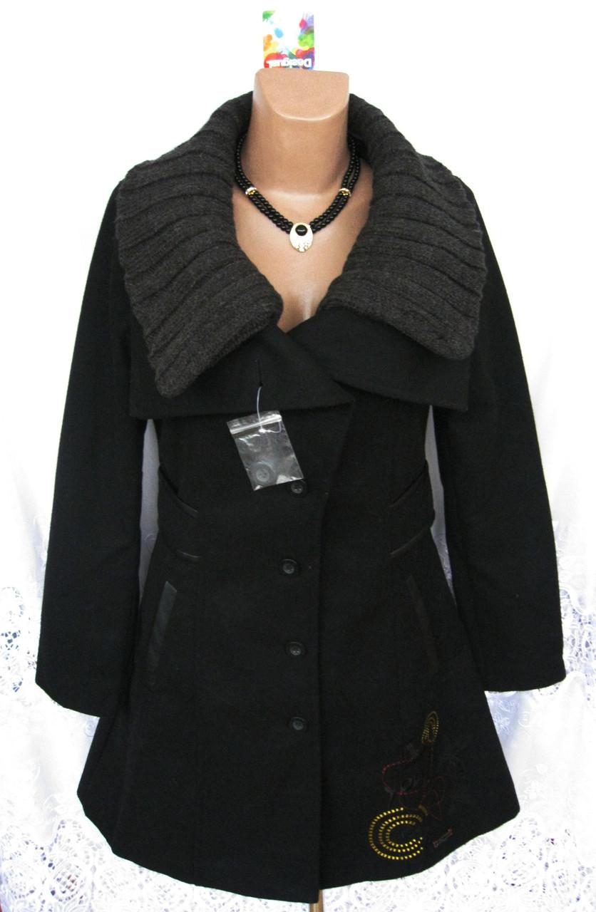 d8676670c6b Новое стильное демисезонное пальто с вышивкой DESIGUAL полиэстер шерсть  акрил М 46-48 C48N -