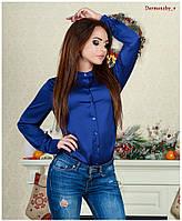 Яркая шелковая блузка