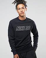 Мужской СВИТШОТ Nike (Свитер Найк Черный) Black 🔥