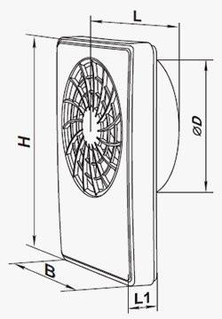 Размеры вентилятора Вентс iFan Celsius 100