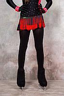 Колготки для фигурного катания сатин, черные (Ice&Flame)