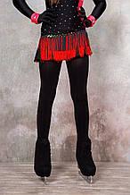 Колготки для фигурного катания сатин, черные, 109-125, 138-154 см, (Ice&Flame) чехлом на ботинок
