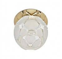 Встраиваемый светильник Feron JD175 прозрачный матовый золото 18813
