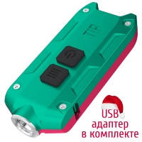 Фонарь Nitecore TIP Winter Edition (Cree XP-G2, 360 люмен, 4 режима, USB), красный/зеленый