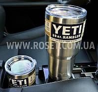 Термокружка дорожная YETI Rambler Tumbler 30 OZ - 890 мл (Металлик, Синий, Бирюзовый)
