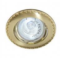 Встраиваемый светильник Feron 125Т MR-16 матовое золото золото 17781