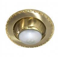 Встраиваемый светильник Feron 125 R-39 матовое золото золото 17618