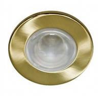 Встраиваемый светильник Feron 1714 матовое золото 14070