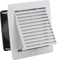 Вентилятор 30 м3 (41) с решеткой вентиляционной с фильтром 110х110 в щит ящик шкаф цена купить