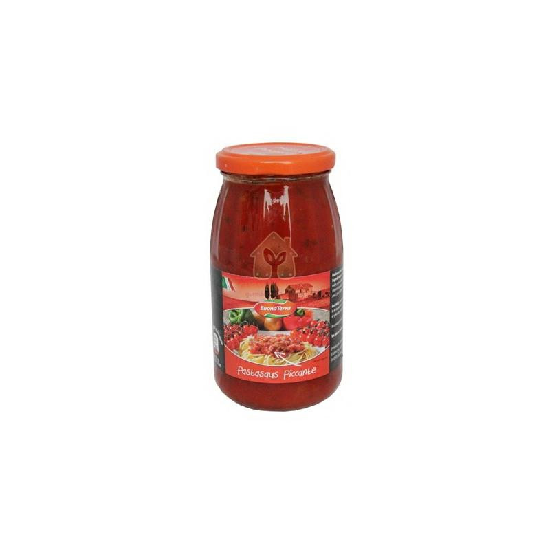 Заправка томатная пикантная Buona Terra Pastasaus Piccante, 475 г (Италия) - Интернет-магазин Родзинка в Харькове