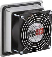 Решетка вентиляционная с фильтром и вентилятором 160х160 вентрешетка IP54 в щит ящик шкаф