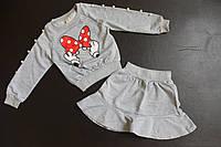 Стильный детский костюм с юбкой с Минни Маус Minnie Mouse