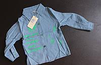 Джинсовая стильная детская рубашка
