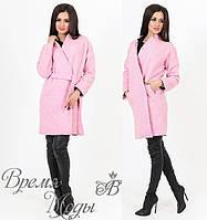 Кардиган с карманами, нежно-розовый. 2 цвета. р-р от 44 до 50.