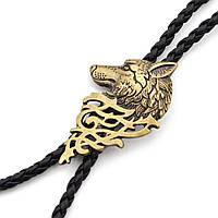 Ковбойский Bow Tie House галстук Волк с запада (галстук шнурок бола) - медный цвет 08883