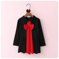 Платье стильное черно-красное с бантом