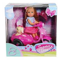 Кукла Эви на скутере с собачкой Steffi & Evi Love