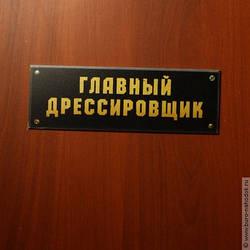 Табличка на дверь Главный дрессировщик подарок учителю директору начальнику