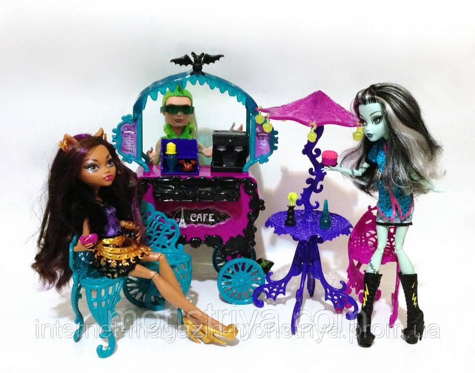 Monster High Scaris The city of frights Cafe Cart Игровой набор Передвижное кафе Скариж Город Страха