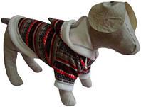 Толстовка для собак Зима Той терьер, длина по спинке - 25 см, объем груди - 28 см