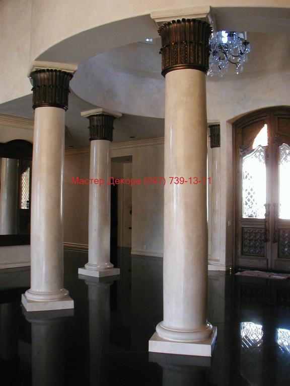 Декорирование колонн 5