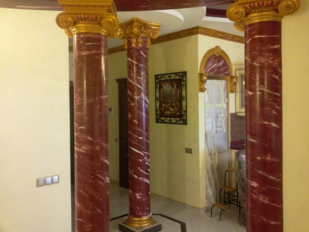 Декорирование колонн 6