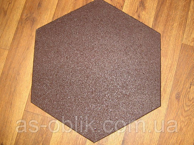 Спортивна гумова плитка 470х470х20 мм