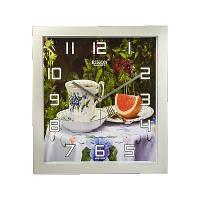 Часы настенные Rikon 10651 PIC Silver Flower