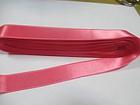 Стрічка атласна  двостороння 2 см ( 10 метрів) рожева G-02-410
