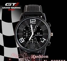 Мужские наручные часы GT Grand Touring большим циферблатом 4см (с оранжевыми цифрами), фото 3