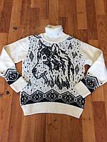 Подростковый свитер волк