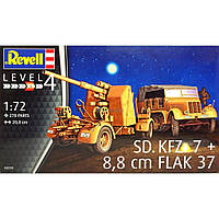 Сборная модель Revell Немецкий тягач Sd.Kfz.7 и зенит. орудие 8.8 cm Flak 37 1:72 (3210)