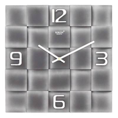 Часы настенные Rikon 10051 Silver Black, фото 2