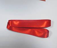 Стрічка атласна  двостороння 2 см ( 10 метрів) червона