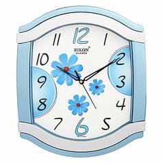 Годинники настінні Rikon 5051 MS Blue Flower