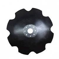 Диск бороны АГ, АГД, УДА (ромашка - 8 лепестков) (8 отв., D=650 мм, s=6 мм, Dвн=63 мм), 65 сталь