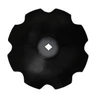 Диск лущильника ЛДГ (ромашка - 8 лепестков) (D=450 мм, s=5 мм, квадрат 31х31 мм), 65 сталь