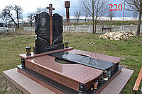 Двойной памятник под будущее захоронение
