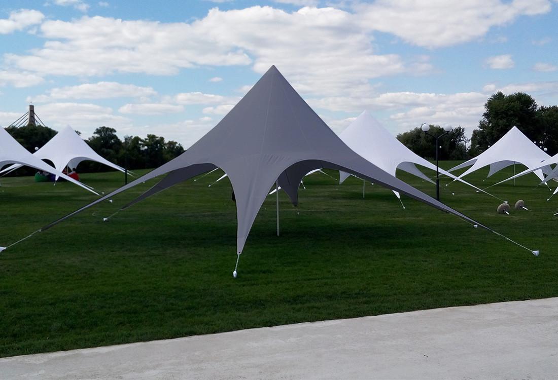 Тент Звезда, 10 метровый, серого цвета,  Доставка по Украине бесплатно