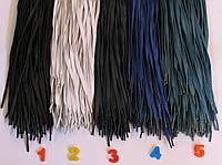 Шнурки пропитанные цветные 100см плоские