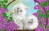 """Схема для вышивки бисером """"Котята"""", А2"""