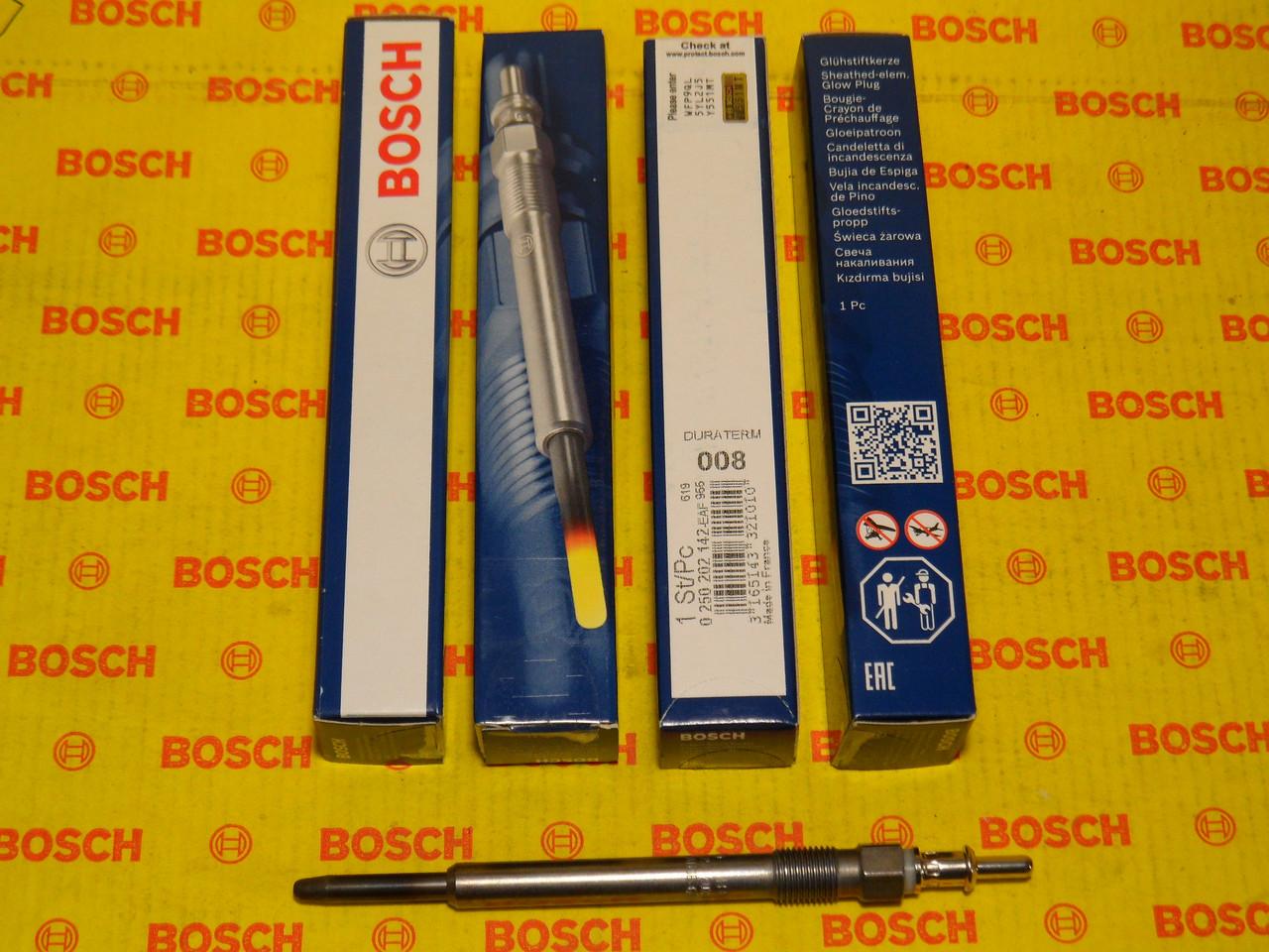 Свеча накала BOSCH 0250202142,0 250 202 142,