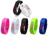 Спортивные силиконовые наручные часы - браслет