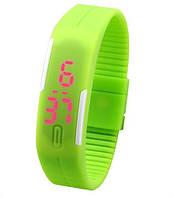 Спортивные силиконовые наручные часы - браслет, фото 1