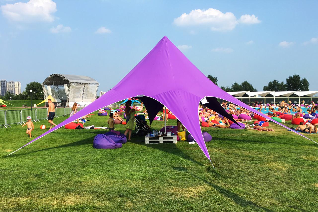 Тент Звезда, 10 метровый, фиолетовая, сиренавая,  Доставка по Украине бесплатно