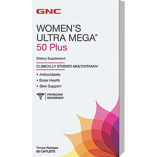 GNC Women's Ultra Mega 50 Plus 60 caplets
