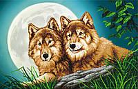 """Схема для вышивки бисером """"Волки"""", А2"""