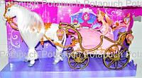 Карета с принцессой и лошадкой (подвижной) М 209