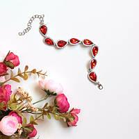Женский браслет на руку Essia красный, магазин бижутерии
