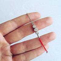 Женский браслет красная нить с,стильная бижутерия